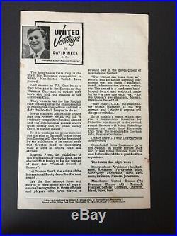 1964 Manchester United Signed Programme Matt Busby George Best Denis Law Crerand