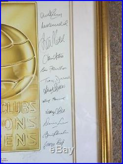 1968 European Cup Final Manchester United 12 signed print by Stewart Beckett