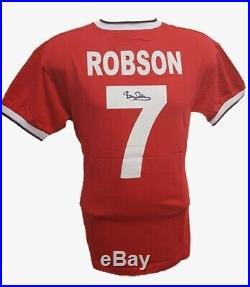 1983 FA Cup Final Manchester United shirt hand Signed by Bryan Robson