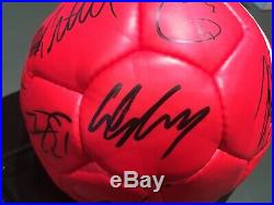 2006 2007 Manchester United Football Signed by 20 Rooney Giggs COA Man Utd Ball