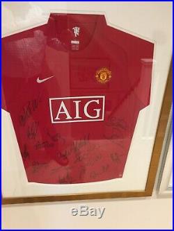 2007-08 Manchester United Football X18 Signed Shirt Ronaldo Scholes COA Man Utd