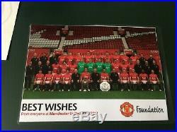 2011/12 Manchester United Football Signed 22 De Gea Scholes Giggs Man Utd Ball