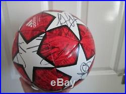 2018-2019 Squad Signed Manchester United Champions League Football with COA