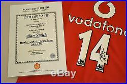 Alan Smith Signed Manchester United 04/05 #14 Home Shirt Autograph Man Utd COA