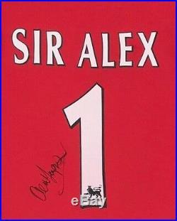 Alex Ferguson Signed & FRAMED Manchester United SHIRT AFTAL COA (A)
