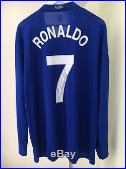 Authentic Signed Player Issue Cristiano Ronaldo Manchester United Shirt With COA