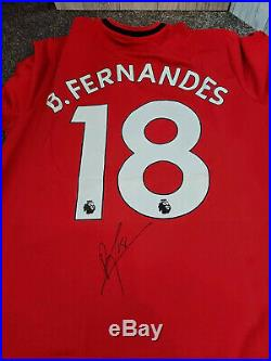 BRUNO FERNANDES SIGNED MANCHESTER UNITED SHIRT WITH A1 Coa CLEAR SIGNATURE £199