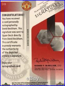 Beckham Sign Card Autograph Manchester United Beckham autographed