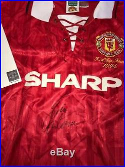 Cantona Manchester United FA Cup final signed shirt & AUTHENTICITY certificate L