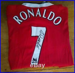 Cristiano Ronaldo Hand Signed Manchester United COA