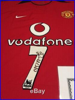 Cristiano Ronaldo Manchester United Football Shirt Signed Man Utd Real Madrid 7