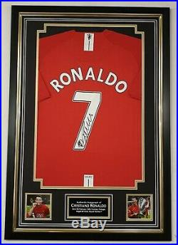 Cristiano Ronaldo Of Manchester United Signed Shirt Autographed Jersey