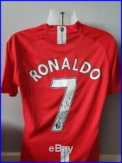 Cristiano Ronaldo Signed Autograph Shirt Manchester United F. C 07/09 2008 + COA