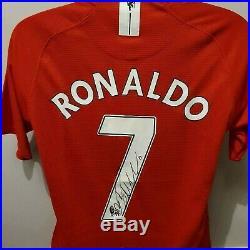 Cristiano Ronaldo Signed Autograph Shirt Manchester United F. C 07 09 with COA
