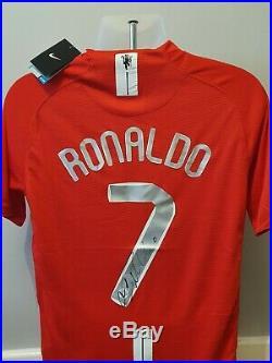 Cristiano Ronaldo Signed Autograph Shirt Manchester United F. C 2008 with COA