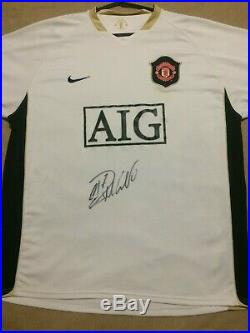 Cristiano Ronaldo Signed Manchester United Man Utd 2006 2007 Away Shirt