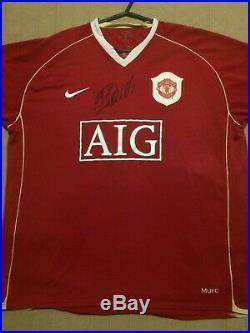 Cristiano Ronaldo Signed Manchester United Man Utd 2006 2007 Home Shirt