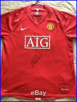 Cristiano Ronaldo Signed Manchester United Man Utd 2008 CL Home Shirt