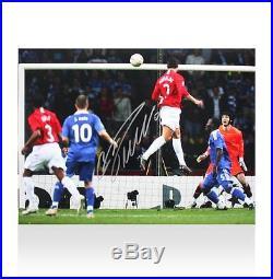 Cristiano Ronaldo Signed Manchester United Photo 2008 UEFA Champions League Fin
