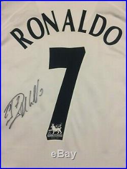 Cristiano Ronaldo Signed Number 7 Manchester United Man Utd Away Shirt