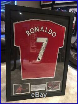 Cristiano Ronaldo Signed Shirt Framed Manchester United CR7