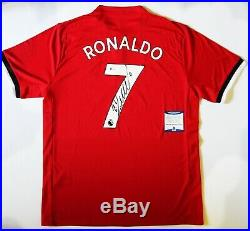 Cristiano Ronaldo Signed adidas Manchester United Soccer Jersey Beckett COA neu