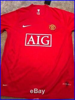 Cristiano Ronaldo signed Manchester United 2008 Champions Shirt