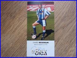 DAVID BECKHAM Manchester United Hand Signed CICA SPONSOR Photo Card Man Utd