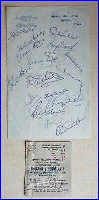 DUNCAN EDWARDS TOMMY TAYLOR WOOD MANCHESTER UNITED ENGLAND SIGNED Busby Babes