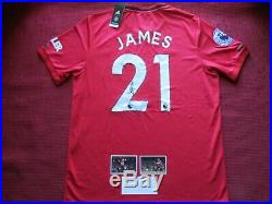 Daniel James Manchester United Signed Home 2019/20 Shirt Jersey Photo Proof