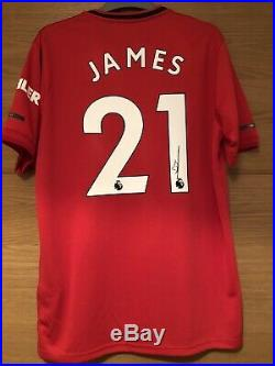 Daniel James Signed Manchester United Shirt 19/20, Wales Swansea City