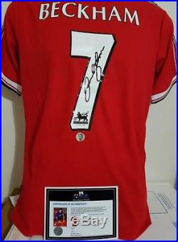 David Beckham Hand Signed Manchester United 1998/1999 Rare Jersey With Coa+proof