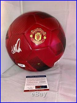 David Beckham Hand Signed Manchester United Soccer Ball Psa Dna Cert Miami