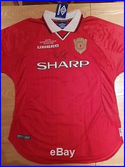 David Beckham Manchester United Original Hand-Signed Shirt 1999 Champions League