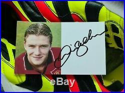 David Beckham (Manchester United) Signed Promo Card 5x3 inch