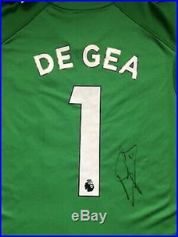 David De Gea Signed Manchester United 2018/19 Goalkeeper Shirt Man Utd PROOF