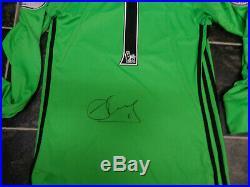 David De Gea Signed Manchester United Football Shirt Coa De Gea 1 Spain Mufc