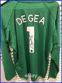 David De Gea Signed Manchester United Jersey Signature Photo Proof Long-sleeve