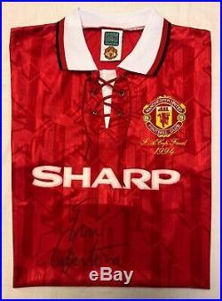 Eric Cantona 1994 FA Cup Final Signed Manchester United Shirt + COA