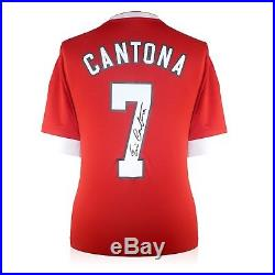 Eric Cantona Back Signed Manchester United Home Shirt In Gift Box