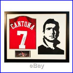 Eric Cantona Framed Signed Manchester United Shirt Silhouette