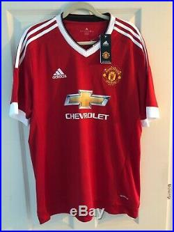 Eric Cantona Hand Signed Man Utd Home Shirt With Tags Manchester United Legend