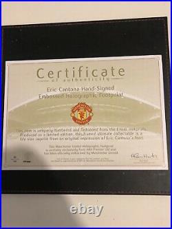 Eric Cantona Manchester United Signed With Club COA
