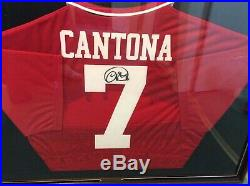 Eric Cantona Personally Signed Manchester United Home Shirt Framed Ready To Hang