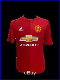 Eric Cantona Signed Adidas Manchester United Football Shirt See Proof Coa