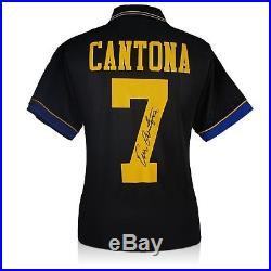 95ebcb10ec7 Eric Cantona Signed Manchester United 1994 Black Away Shirt