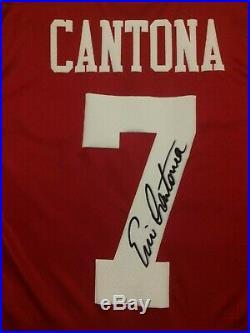 Eric Cantona Signed Manchester United Man Utd Number 7 Shirt