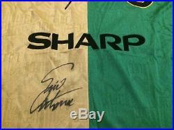Eric Cantona Signed Manchester United Man Utd Retro Newton Heath Shirt