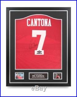 f1d8e4fc7 Eric Cantona Signed Shirt Manchester United Framed Autograph Jersey  Memorabilia