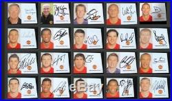 European Cup 2008 Winners Manchester United Signed Club Cards Man Utd Ronaldo